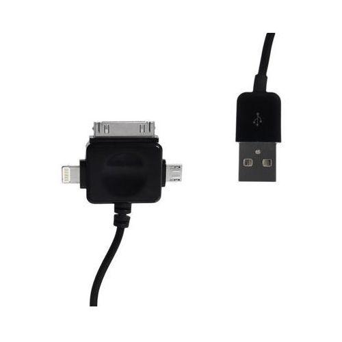 Kabel WHITENERGY USB-M B-micro USB iphone4/iphone5 1m Czarny
