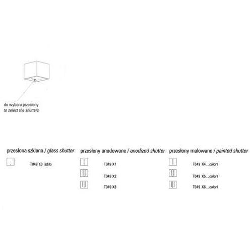 Cleoni Przesłona kubik x2 ii anodowana, t049x2501