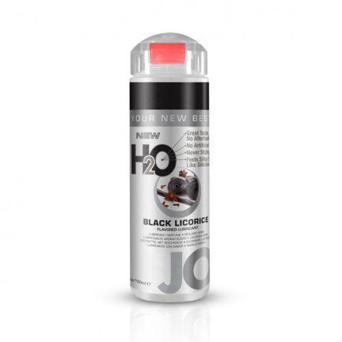 System jo Lubrykant smakowy wodny -  h2o lubricant black licorice 150 ml czarna lukrecja
