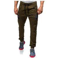 Spodnie joggery męskie khaki Denley 0706, kolor zielony