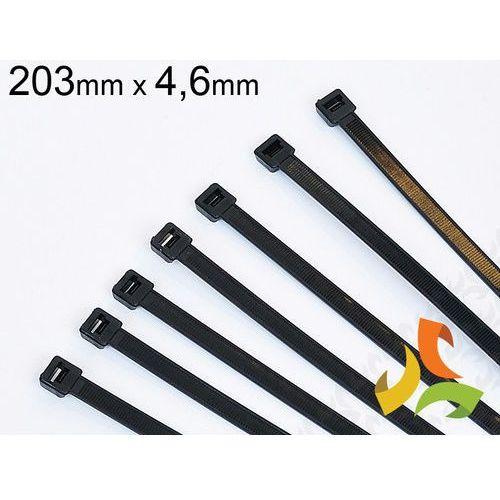 Haupa Opaska kablowa czarna (100szt) 203x4,6mm (4011923099176)