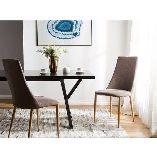 Zestaw do jadalni 2 krzesła jasnobrązowe CLAYTON, kolor brązowy