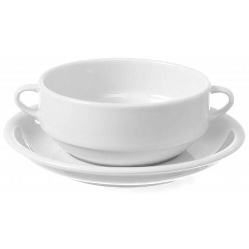 Fine dine Bulionówka z uszami bianco | 380 ml lub spodek