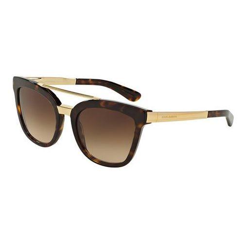 Okulary Słoneczne Dolce & Gabbana DG4269F Asian Fit 502/13, kolor żółty