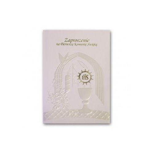 OKAZJA - Zaproszenie na Komunię Świętą - Karnet z kopertą (nr 7)