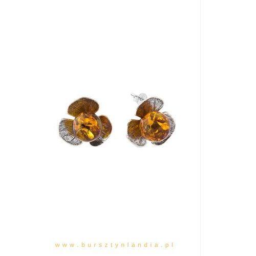 Kolczyki flowers marki Bursztynlandia