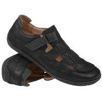 Półbuty Sandały KACPER 1-0755-575 Czarne - Czarny, kolor czarny