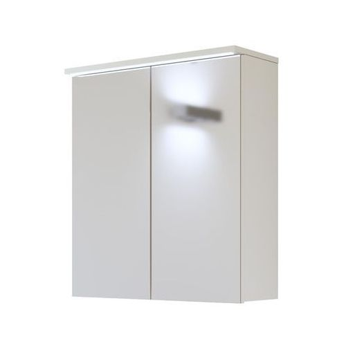 Szafka łazienkowa z lustrem LED 60 cm Galaxy White Comad, kolor biały