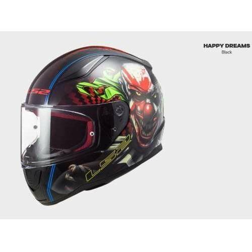 Kask motocyklowy comfort ff353 rapid happy dreams black nowość: 2021 marki Ls2
