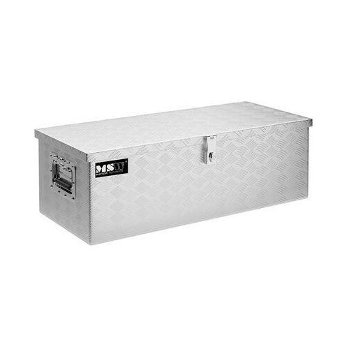 Msw skrzynka narzędziowa - aluminium - 48 l msw-atb-765 - 3 lata gwarancji