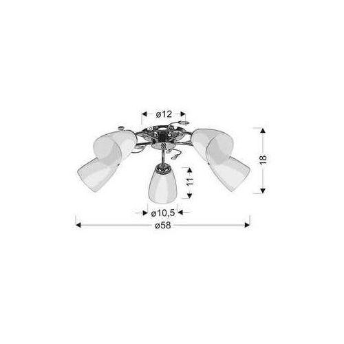 Candellux Ursella lampa sufitowa 5x40w e14 biaĹ y 35-79220