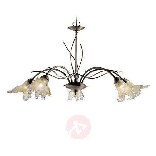 Searchlight Lampa wisząca lily 5-punktowa, stary mosiądz (5013874331649)