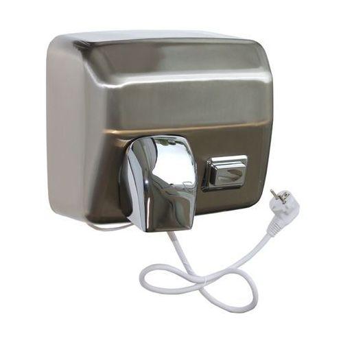 Elektryczna suszarka do rąk STARFLOW z przyciskiem - obudowa metalowa, STAL MATOWA