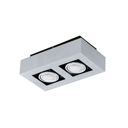 Plafon lampa sufitowa loke 1 91353  natynkowa oprawa metalowa ip20 prostokąt chrom marki Eglo