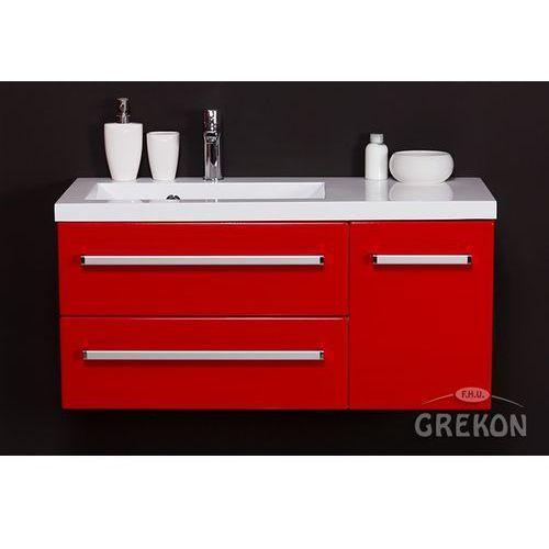 Czerwona szafka wisząca z umywalką 90/39/2l seria fokus cz marki Gante