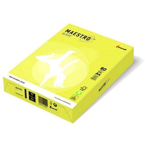 Papier ksero Maestro Color A4 80g cytrynowy ZG34