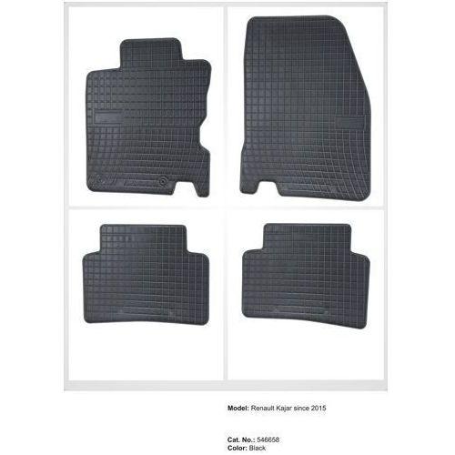 Dywaniki gumowe czarne z kompletem stoperów - renault kadjar od 2015 marki Frogum