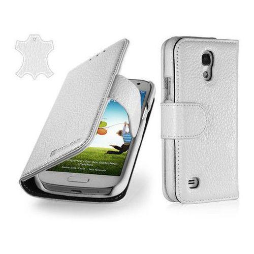 Skórzane etui Stilgut Talis - białe - Samsung Galaxy S4 Mini