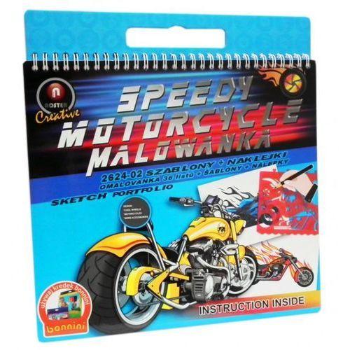 Malowanka szablony +naklejki - motocykle (2624-02m) marki Noster
