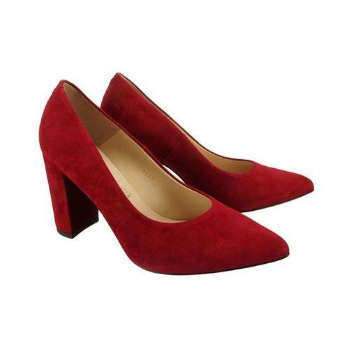 9119 1432 czerwony, czółenka damskie marki Sala