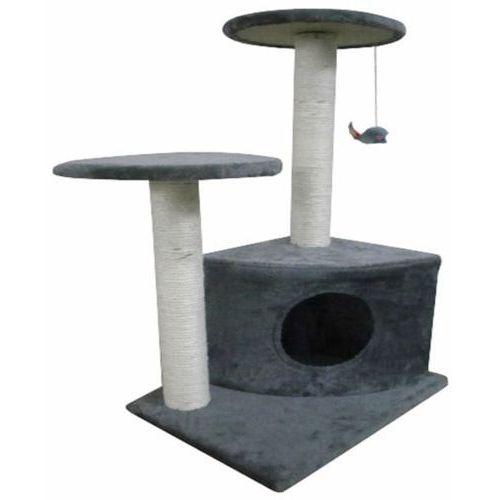 Vidaxl drapak dla kota, drzewko (70 cm) plusz, szary