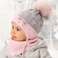 Komplet 38-400 czapka+chustka rozmiar: uniwersalny, kolor: wielokolorowy, ajs marki Ajs
