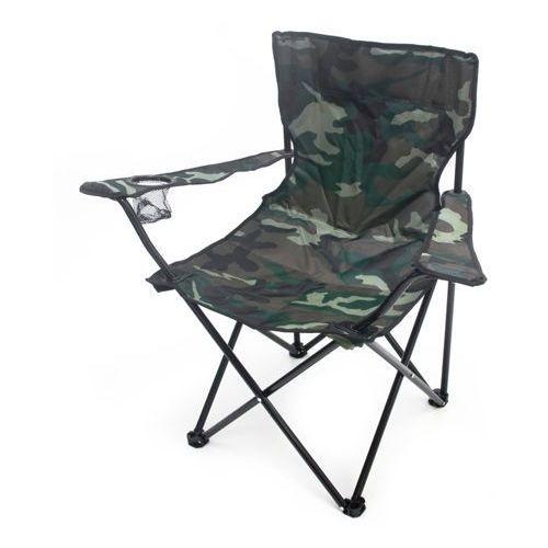 Składane krzesło wędkarskie turystyczne moro + pokrowiec