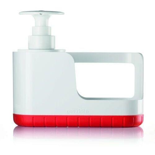 - tidy & clean - organizer do zlewu z dozownikiem, czerwony marki Guzzini