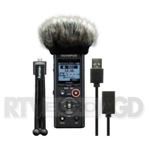 Olympus ls-p4 podcaster kit (mini statyw, osłona przeciwwiatrowa, przewod usb do pc jako interfejs audio) (4046628348892)