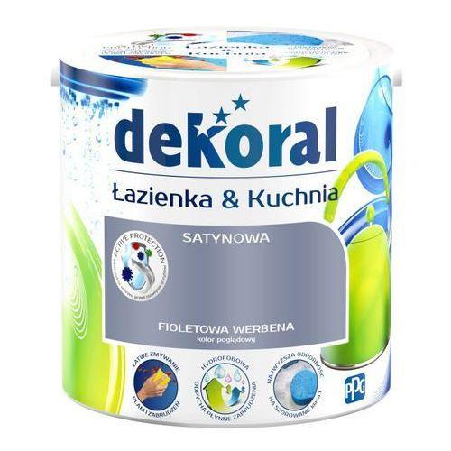 Farba satynowa Dekoral Łazienka i Kuchnia fioletowa werbena 2,5 l (5904000018926)