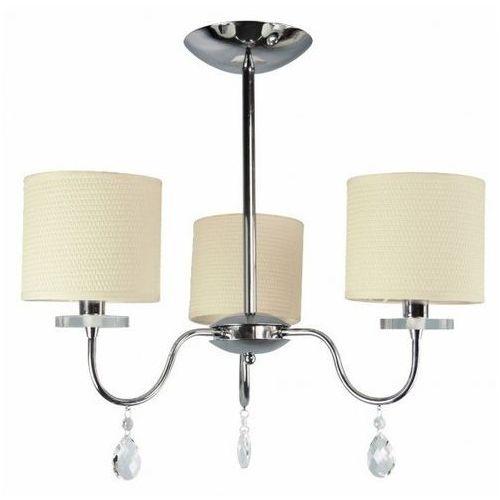 Plafon LAMPA sufitowa ESTERA 33-11664 Candellux metalowa OPRAWA abażurowa kryształki chrom kremowy, 33-11664