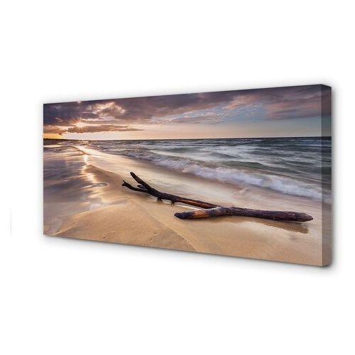 Tulup.pl Obrazy na płótnie gdańsk plaża morze zachód słońca