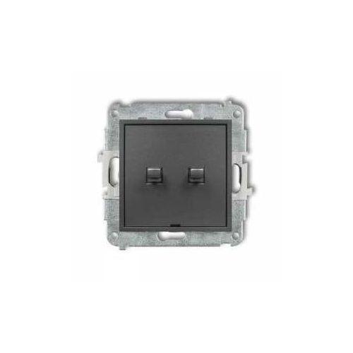 Karlik Przycisk świecznikowy mini 11mwpus-44.1 w stylu amerykańskim grafitowy (5903268585720)