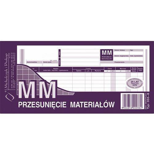 Przesunięcie materiałów mm michalczyk&prokop 355-8 - 1/3 a4 (wielokopia) marki Michalczyk i prokop