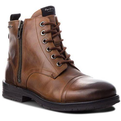 Kozaki - tom-cut med boot pms50163 tan 869 marki Pepe jeans