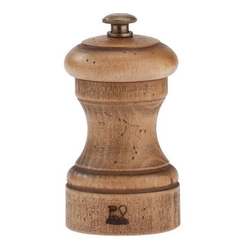 Młynek do soli z drewna bukowego 100 mm, naturalny postarzany   PEUGEOT, Antique