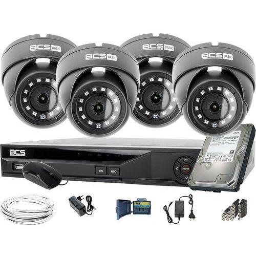 4x BCS-B-MK22800 1920x1080 FullHD BCS Basic zestaw do monitoringu Dysk 1TB Akcesoria, ZM11648