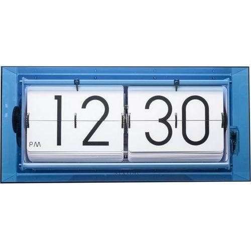 Nextime - zegar stojący big flip clear - niebieski