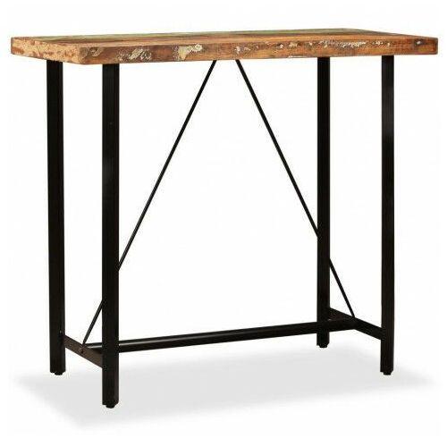 Elior Wielokolorowy stolik z drewna odzyskanego – chris 3x