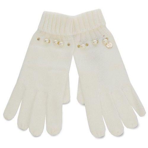 Rękawiczki Damskie LIU JO - Guanti Maglia Perle N68308 M0300 Bianco Iana 00086