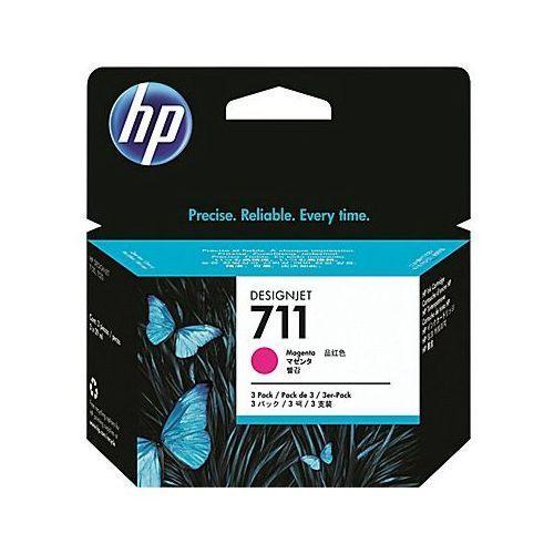 Tusze oryginalne hp 711 (cz135a) (purpurowe) (trójpak) - darmowa dostawa w 24h marki Hewlett-packard (hp)