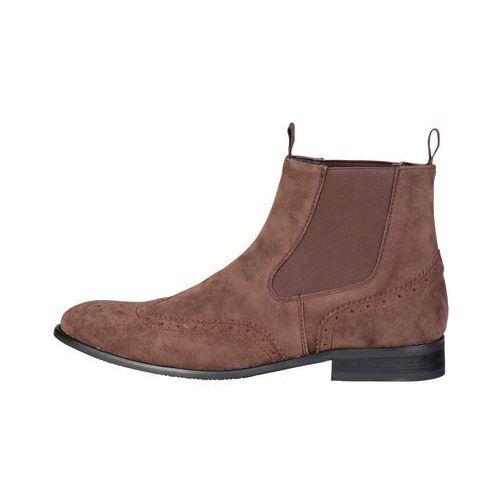 Buty do kostki botki męskie PIERRE CARDIN -ZD3711-77, kolor brązowy
