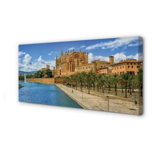 Obrazy na płótnie Hiszpania Gotycka katedra palmy
