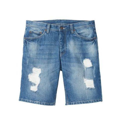 """Bermudy dżinsowe regular fit niebieski """"medium bleached used marki Bonprix"""