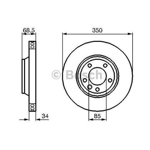 Bosch  tarcza hamulcowa; przednia, 0 986 479 249 (4047024202122)