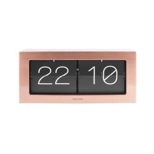 Karlsson Zegar stołowo/ścienny flip clock boxed xl copper by