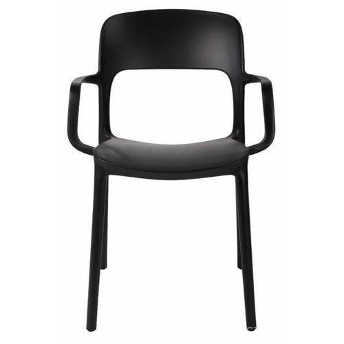 Krzesło z podłokietnikami Flexi - czarny (5902385708661)