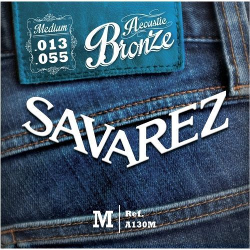 Savarez (668586) struny do gitary akustycznej acoustic bronze - a130m - medium.013-.055