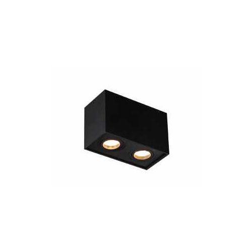 basic square ii c0089 plafon lampa sufitowa oprawa spot 2x50w gu10 czarny marki Maxlight