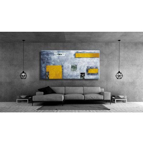 Idealny dla miłośników nowoczesności duży obraz na ścianę do salonu - Żółć i popiel